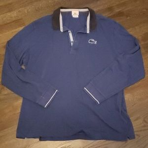 Navy Blue long sleeve Lacoste Polo